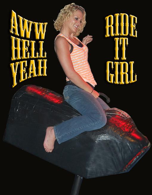 AWW HELL YEAH! RIDE IT GIRL!
