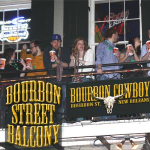 bourbon street balcony party at bourbon cowboy, 241 bourbon street, New Orleans, LA 70130