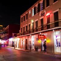 A Bourbon Street view of the Bourbon Cowboy