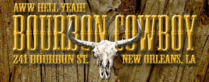 bourbon cowboy, 241 bourbon street, new orleans, louisiana